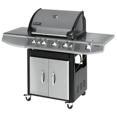 The Charmglow 4 Burner Stainless Steel with Rotisserie gas grill is a sturdy